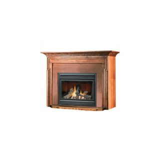 Curved wood fireplace mantel mantal surround mantle for Dark fireplace mantel