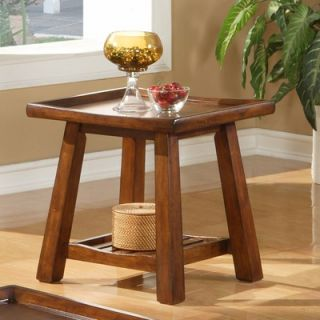 Steve Silver Furniture Noma End Table in Multi Step Cherry