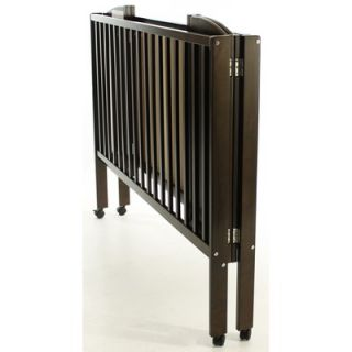 Dream On Me Folding Full Size Crib, Espresso