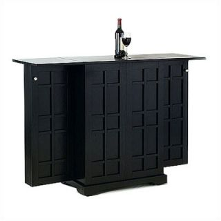 Home Styles Steamer Folding Bar in Ebony