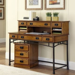 Home Styles Modern Craftsman Executive Desk and Mobile File   5050