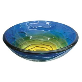 Yosemite Home Decor Retro Blues Round Glass Basin