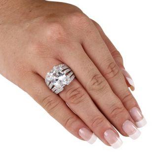 Palm Beach Jewelry Cubic Zirconia Silver Sparkler Ring