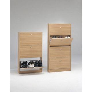 Tvilum Springfield 4 Compartment Shoe Storage Cabinet in Beech