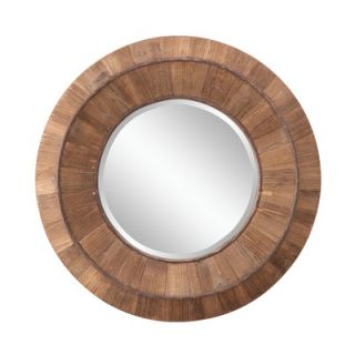 Cooper Classics Rondel Mirror in Tarnished Silver Finish