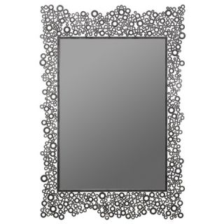 Cooper Classics Kate Wall Mirror in Distressed Dark Silver