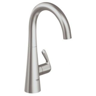 grohe alira one handle single kitchen faucet with water care with