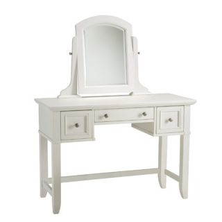 Home Styles Naples Vanity Table and Bench Set in White   88 5530 72