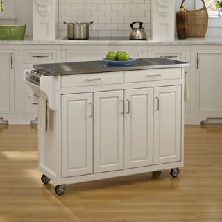 Home Styles Create a Cart Kitchen Cart with Stainless Steel Top