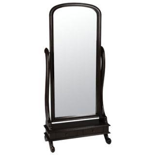 Cooper Classics Garrison Cheval Mirror in Distressed Dark