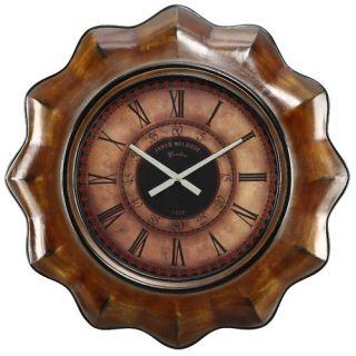 Cooper Classics Sullivan Wall Clock in Distressed Chestnut