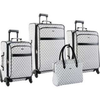 Pierre Cardin Signature 4 Piece Spinner Luggage Set   0208P01