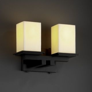 Justice Design Group CandleAria Montana Two Light Bath Vanity   CNDL
