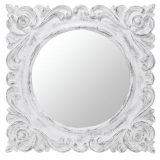Cooper Classics Margate Mirror in Distressed Aged White