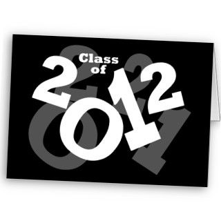 Playful Numbers, Class of 2012 Graduation Design Cards