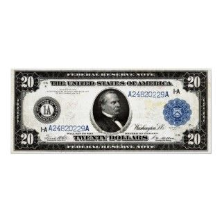 Series 1914 United States Federal Reserve twenty dollar currency note