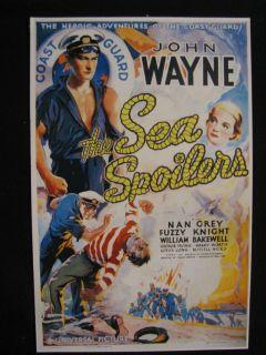 John Wayne US Coast Guard 1936 Sea Spoilers Nan Grey Movie Poster