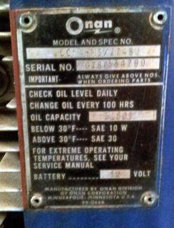 Onen Cushman Golf Cart Engine 2 Cylinder 1980 Runs 12V