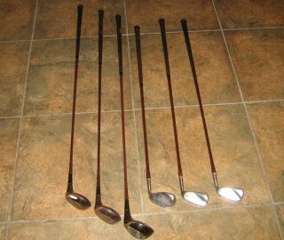 OLD GOLF CLUB SET VINTAGE WILSON CLUBS GENE SARAZEN WOOD IRONS FREE