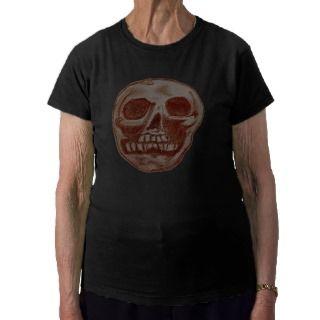 Zombie Skull (Reddish white Skull) Tee Shirt