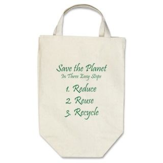 Save the Planet Tote Bags