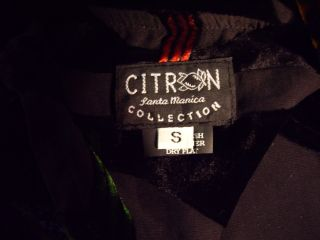 CITRON SANTA MONICA Blouse Burnout Velvet/Jeweltone on Black S