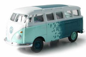 Greenlight Collectibles 1 64 Scale Custom Green VW Samba Bus