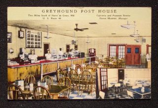 Great 1940s Greyhound Bus Cafeteria Havre de Grace MD