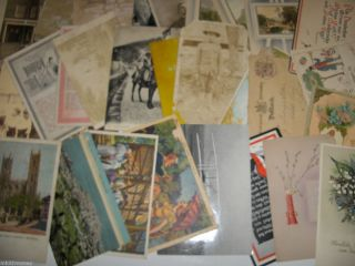 items vtg Ephemera Post Greeting Cards Book Pages Collage Scrapbooking