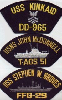 BASEBALL CAP/HAT PATCH USS STEPHEN W GROVES FFG 29 USN VIETNAM WAR