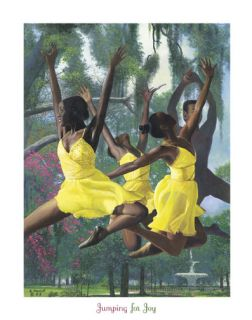 African American Print Jumping 4 Joy by Gregory Myrick