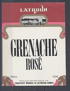Israel Latroun Grenache Rose Wine Label Very Fine