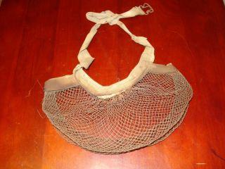Vintage Fishermans Wire Mesh Belt Style Live Bait Cricket Cage