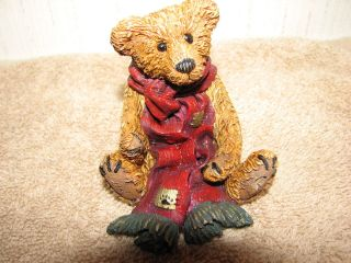Boyds Bears Grenville with Red Scarf 2003 08 Bearstone Collection Love