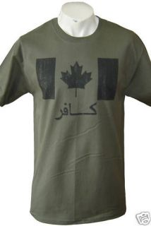 od infidel canada symbol canadian forces army t shirt m