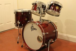 Gretsch USA Custom Rosewood Drum Set Jasper Shell Techware Hardware