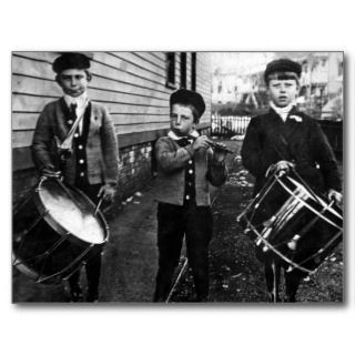 Vintage Drummer Boys Photograph Post Cards
