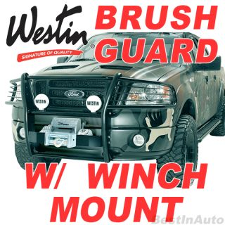 Toyota Tundra Black Winch Mount Grille Brush Guard Sportsman
