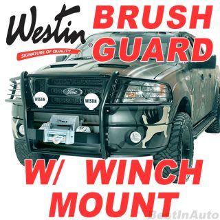 Toyota Tundra Black Winch Mount Grille Brush Guard Sportsman