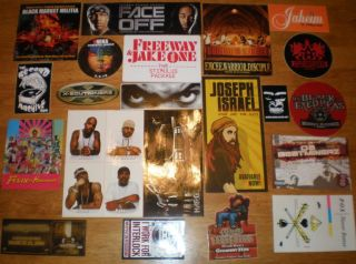20 Rap Stickers Snoop Dogg NAS Black Eyed Peas Ice Cube Jaheim Jagged