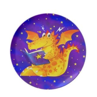 Naughty Little Dragon Party Plate