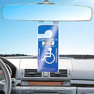 Handicap Parking Tag Hang Sleeve For Rearview Mirror