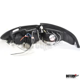94 98 Ford Mustang Cobra Blk Projector Head Light Lamps