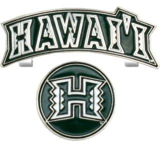 Slider Golf Ball Marker Baseball Cap Hat Clip Hawaii Warriors