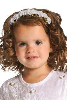 Girl White Rose Hair Headband Christmas Flower Girl by Little
