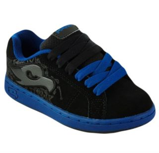 Tony Hawk Boys Skate Shoes Black Blue Sz 5 US Brand New