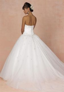 Made Strapless Bridal Wedding/Evening/Party Dresses/Formal/Ball Gowns