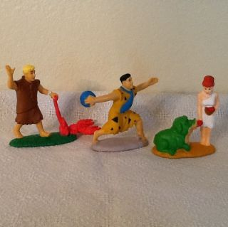 Hanna Barbera Flintstone PVC Figures Set Of Three