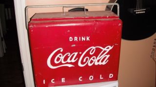 1950s AIRLINE COCA COLA COOLER ANTIQUE AND VERY COOL**AUTHENTIC and