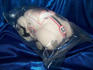HERBIE the LOVE BUG Plush VW beanbag CAR 53 Disney movie toy beanie